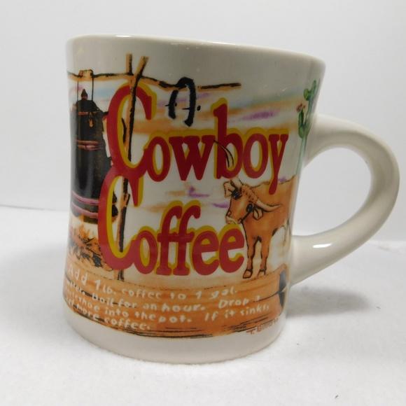 Westwood Kitchen Cowboy Coffee Westwood T Simms Art Coffee Mug Cup Poshmark